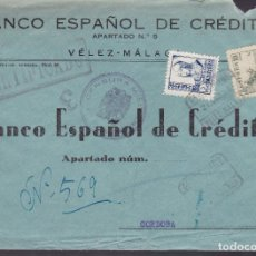 Sellos: F4-9- GUERRA CIVIL. CERTIFICADO VELEZ- MÁLAGA 1938 . LOCAL Y CENSURA . Lote 144670294