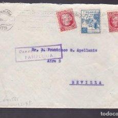 Timbres: F4-6- GUERRA CIVIL. CARTA PAMPLONA 1937 . CRUZADA CONTRA EL FRIO Y CENSURA. Lote 144670346