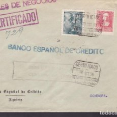 Sellos: F4-13- GUERRA CIVIL. CARTA CERTIFICADO ALGECIRAS (CÁDIZ) 1939 . LOCAL Y CENSURA. Lote 144670790