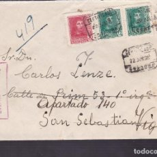 Sellos: F4-15- GUERRA CIVIL.CERTIFICADO CÓRDOBA 1938. REEXPEDIDA. LOCAL Y CENSURA . Lote 144671010