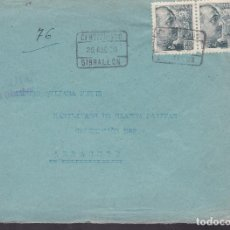 Sellos: F4-16- GUERRA CIVIL.CERTIFICADO GIBRALEÓN HUELVA 1939.CENSURA. Lote 144671150
