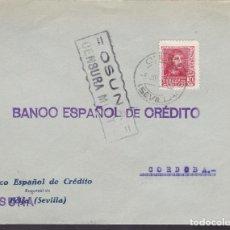 Sellos: F4-23- GUERRA CIVIL.CARTA OSUNA (SEVILLA) 1938. LOCAL Y CENSURA. Lote 144783646