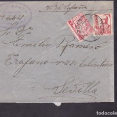 Sellos: F4-26- GUERRA CIVIL. CARTA CONSTANTINA (SEVILLA) 1937. LOCAL Y CENSURA. Lote 144786002