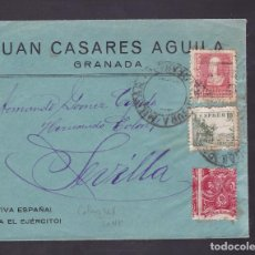 Sellos: F4-27- GUERRA CIVIL. CARTA GRANADA 1938 . LOCAL Y CENSURA. Lote 144786526