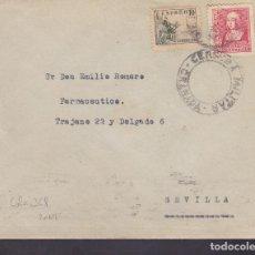Sellos: F4-29- GUERRA CIVIL. CARTA GRANADA 1939 . CENSURA Y LOCAL. Lote 144788294