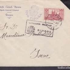 Sellos: F4-29- GUERRA CIVIL. CARTA BURGOS -ISCAR 1937 . CENSURA . Lote 144788626