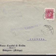 Sellos: F4-41- GUERRA CIVIL.CARTA ARCHIDONA (MÁLAGA) 1938. LOCAL Y CENSURA. Lote 144795938