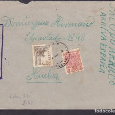 Sellos: F4-43- GUERRA CIVIL. FRONTAL CORTEGANA (HUELVA) 1937. FISCAL , FAJA Y CENSURA. Lote 144797438