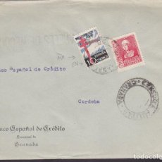 Sellos: F4-43- GUERRA CIVIL. CARTA GRANADA 1938. LOCAL Y CENSURA. TUBERCULOSOS VARIEDAD. Lote 144797970