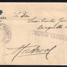 Sellos: GUERRA CIVIL. BANDO NACIONAL. CARTA VILLAMANISCLE (GERONA) 19-12-1939. CENSURA MILITAR. Lote 145136138