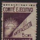 Sellos: VALL DE UXO, 5 CTS, COMITE EJECUTIVO ANTIFASCISTA, VER FOTO. Lote 145156042