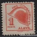 Sellos: ALAVA, 1 PTA, --PRO-COMBATIENTE-- SOFIMA Nº 6 , *** VER FOTO. Lote 145157402