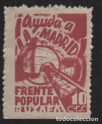 RUZAFA.- VALENCIA, 10 CTS,.FRENTE POPULAR,- AYUDA A MADRID- N/C, VER FOTO (Sellos - España - Guerra Civil - De 1.936 a 1.939 - Nuevos)