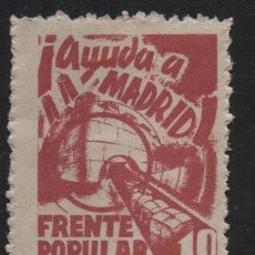 Sellos: RUZAFA.- VALENCIA, 10 CTS,.FRENTE POPULAR,- AYUDA A MADRID- N/C, VER FOTO. Lote 145158458