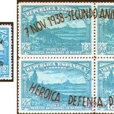 Sellos: AÑO 1938 (789-790) II ANIVERSARIO DE LA DEFENSA DE MADRID (NUEVO). Lote 145168422