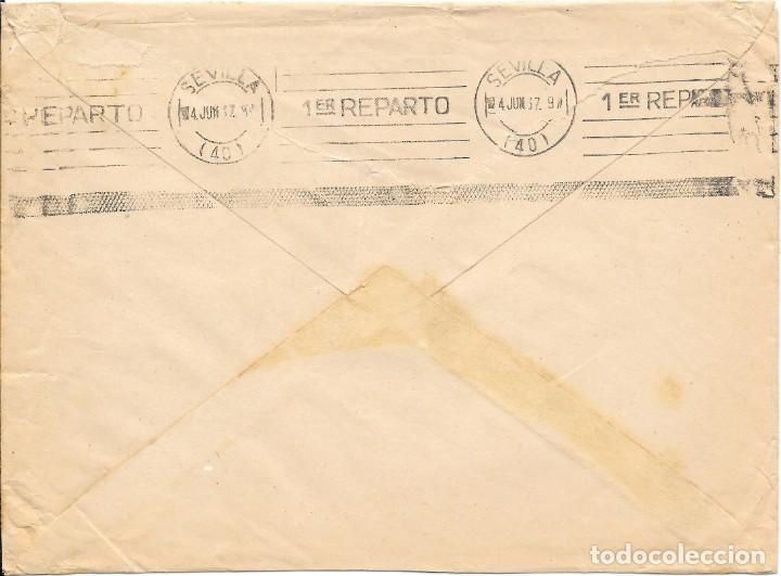 Sellos: 8 TIMBRES ESPECIAL MOVIL DE 15 CTS. SOBRE DE LORA DEL RIO A SEVILLA.1937 - Foto 2 - 145169638