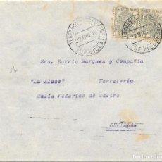 Sellos: GUERRA CIVIL. PAREJA ESPECIAL MOVIL 15 CTS. DE VILLAFRANCA DE PALACIOS A SEVILLA. 1936. Lote 145177270