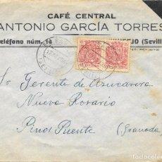 Sellos: GUERRA CIVIL. PAREJA ESPECIAL MOVIL DE 15 CTS. DE EL SAUCEJO A PINOS PUENTE. 1936. Lote 145178106