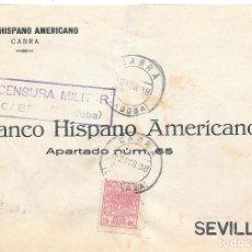 Sellos: GUERRA CIVIL. TIMBRE ESPECIAL MOVIL DE 30 CTS. DE CABRA A SEVILLA. 1938. Lote 145178694