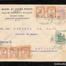 Sellos: GUERRA CIVIL. TIMBRE ESPECIAL MOVIL DE 20 CTS. DE SAN LUCAR A SEVILLA. 1937. Lote 145179906