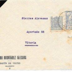 Sellos: GUERRA CIVIL. TIMBRE PARA FACTURAS DE 25 CTS. DE MARTIN DE YELTES A VITORIA. 1938. Lote 145180586