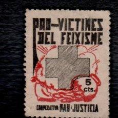 Francobolli: 2680 GUERRA CIVIL PRO VICTIMES DEL FEIXISME COOPERATIVA PAU I JUSTICIA 5C.. Lote 145379452