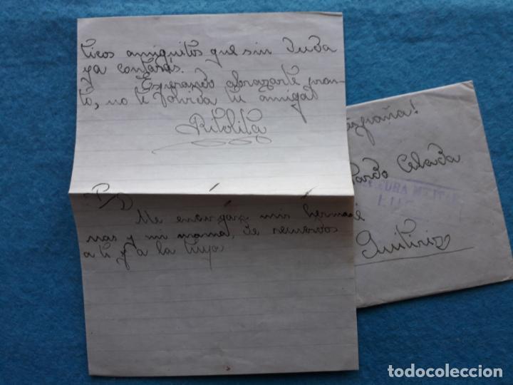 Sellos: Sobre circulado Guitiriz - Lugo. Franqueado el 4 de Agosto de 1938. Censura Militar Lugo. - Foto 2 - 145625714