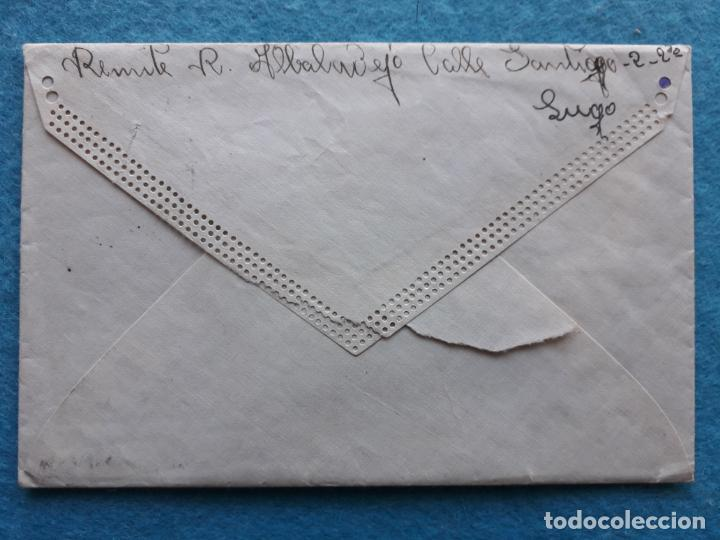 Sellos: Sobre circulado Guitiriz - Lugo. Franqueado el 4 de Agosto de 1938. Censura Militar Lugo. - Foto 3 - 145625714