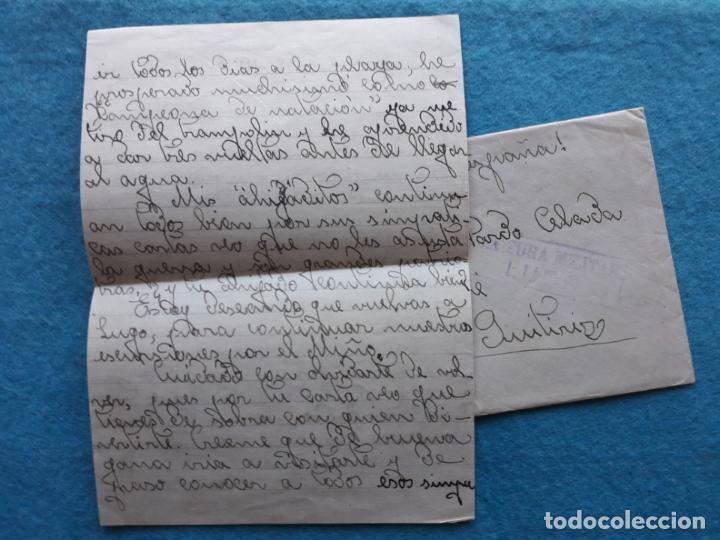 Sellos: Sobre circulado Guitiriz - Lugo. Franqueado el 4 de Agosto de 1938. Censura Militar Lugo. - Foto 4 - 145625714