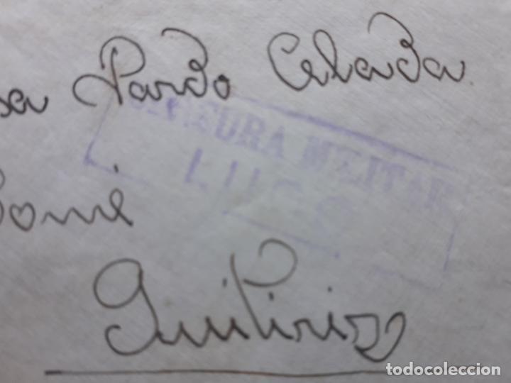 Sellos: Sobre circulado Guitiriz - Lugo. Franqueado el 4 de Agosto de 1938. Censura Militar Lugo. - Foto 5 - 145625714