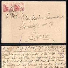 Sellos: GUERRA CIVIL. BANDO NACIONAL. MADRID (17.08.1939) CENSURA MILITAR AL DORSO.. Lote 145651582