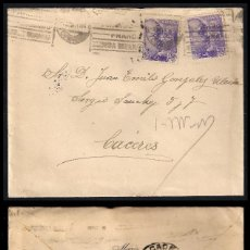 Sellos: GUERRA CIVIL. BANDO NACIONAL. MADRID (02.11.1939) CENSURA MILITAR AL DORSO.. Lote 145651802