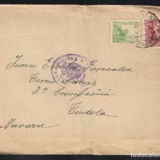 Sellos: GUERRA CIVIL. BANDO NACIONAL. MADRID (13.08.1939) CENSURA MILITAR.. Lote 145652238