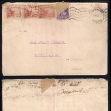 Sellos: GUERRA CIVIL. BANDO NACIONAL. MADRID (23.08.1939) CENSURA MILITAR.. Lote 145652778