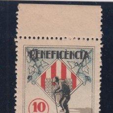 Sellos: BENEFICENCIA, VILLAFRANCA DEL PENEDES (BARCELONA) 10CTS, . Lote 145750950