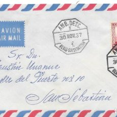 Sellos: GUERRA CIVIL. SOBRE CIRCULADO DE BILBAO A SAN SEBASTIAN. AMBULANTE. 1938. Lote 145888930