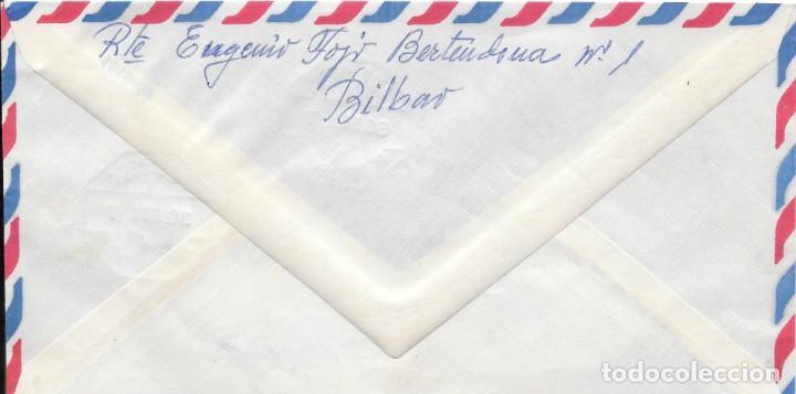 Sellos: GUERRA CIVIL. SOBRE CIRCULADO DE BILBAO A SAN SEBASTIAN. AMBULANTE. 1938 - Foto 2 - 145888930