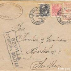 Sellos: GUERRA CIVIL. HUELVA. DE MINAS DE RIO TINTO A SEVILLA. 1937. Lote 145900542