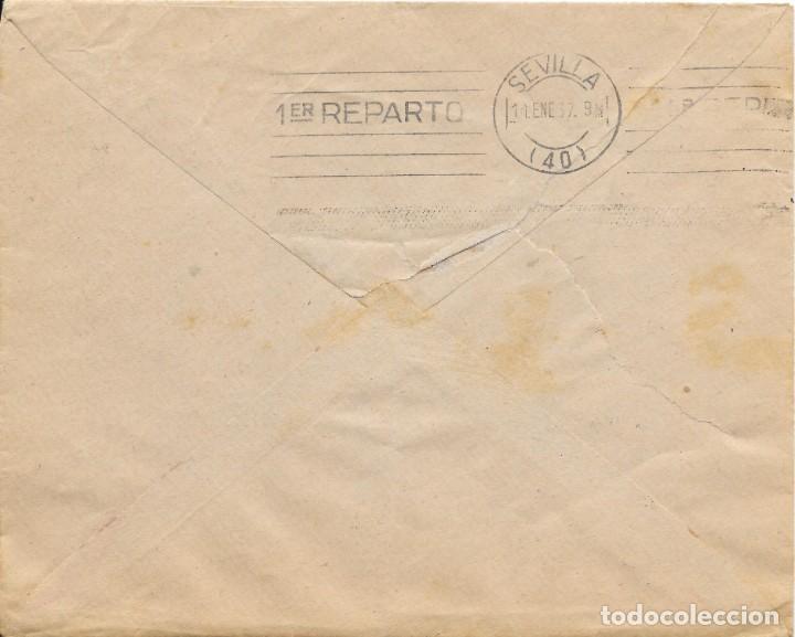 Sellos: GUERRA CIVIL. HUELVA. DE MINAS DE RIO TINTO A SEVILLA. 1937 - Foto 2 - 145900542