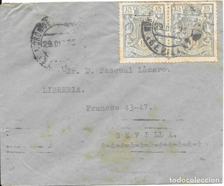 GUERRA CIVIL. SEVILLA. MORON DE LA FRONTERA A SEVILLA. 1936 (Sellos - España - Guerra Civil - De 1.936 a 1.939 - Cartas)