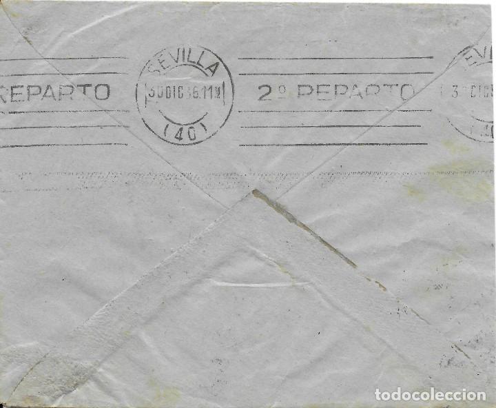 Sellos: GUERRA CIVIL. SEVILLA. MORON DE LA FRONTERA A SEVILLA. 1936 - Foto 2 - 145900854