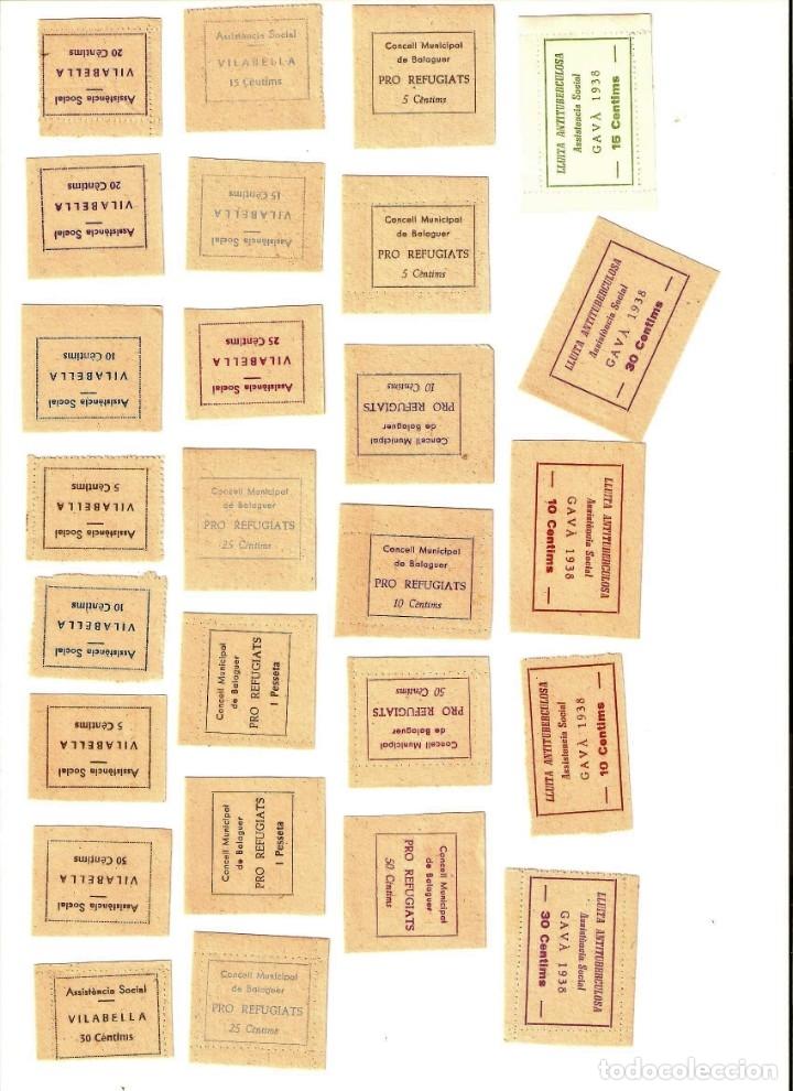 Sellos: SELLOS DE LA GUERRA CIVIL -BRAFIM, BALAGUER, GAVA, LLAVANERA, VILABELLA,TARREGA SOLSONA -LOTE DE 58 - Foto 7 - 182665158
