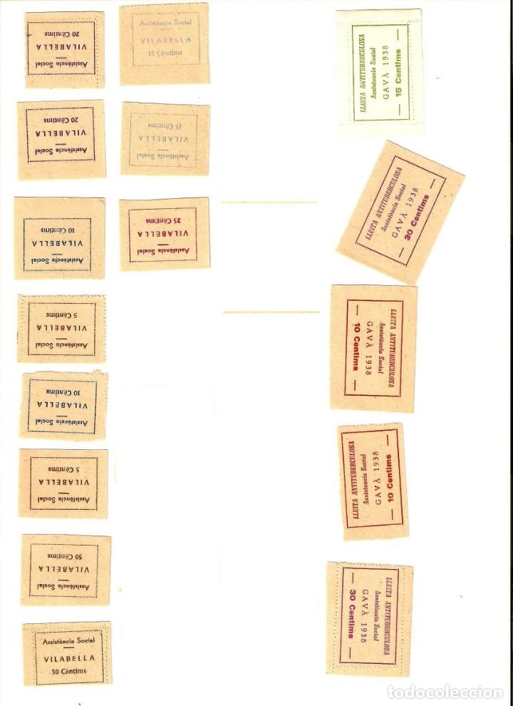 Sellos: SELLOS DE LA GUERRA CIVIL -BRAFIM, BALAGUER, GAVA, LLAVANERA, VILABELLA,TARREGA SOLSONA -LOTE DE 58 - Foto 8 - 182665158