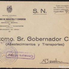 Sellos: 1940. GUERRA CIVIL. LÉRIDA A BARCELONA.. Lote 146382970