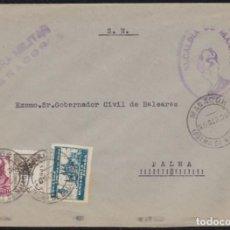 Sellos: 1938. GUERRA CIVIL. MANACOR A PALMA DE MALLORCA.. Lote 146383126