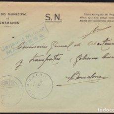 Sellos: 1938. GUERRA CIVIL. MONTMANEU A BARCELONA.. Lote 146383254