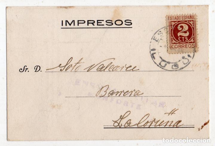 TARJETA PUBLICITARIAANTIGUA CON CENSURA MILITAR DE MONFORTE. LUGO. (Sellos - España - Guerra Civil - De 1.936 a 1.939 - Cartas)