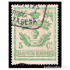 Sellos: ESPAÑA. TOLEDO. CAJA POSTAL DE AHORROS, SELLO FISCAL. USADO. Lote 146699290