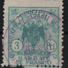 Sellos: BARBATE DE FRANCO, 3 PTAS, SELLO MUNICIPAL, VER FOTO. Lote 146731834
