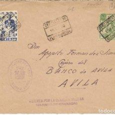 Sellos: ESPAÑA. FRONTAL DE CARTA CIRCULADA POR CORREO CERTIFICADO CON SELLOS DE ALHAMA. Lote 146783342
